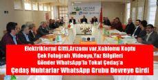Tokat'ta Muhtarlar Elektrik Sorunlarını Sosyal Medya Üzerinden İletecek