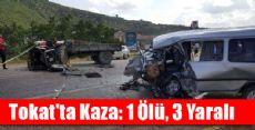 Tokat'ta Traktör ile Panelvan Çarpıştı