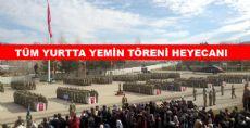 Tokat'ta Yemin Töreni Heyecanı