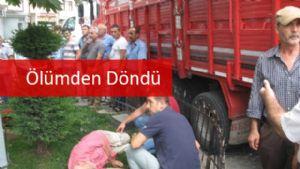 Trafik Kazası : Ölümden Döndü !