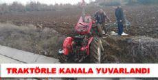 Traktör Kazası 1 Yaralı
