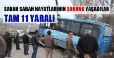 Turhal'da Minibüsle Otomobil Çarpıştı