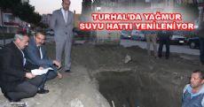 Turhal'da Yağmur Suyu Hattı Yenileniyor
