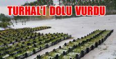 Turhal'ı Dolu Vurdu