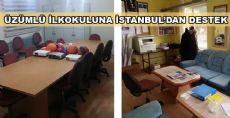 ÜZÜMLÜ İLKÖĞRETİM OKULUNA İSTANBUL'DAN  DESTEK