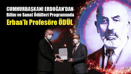 Uluslararası Mehmet Akif Ersoy Bilim ve Sanat Ödüllerinde Erbaa'lı Profesöre Ödül