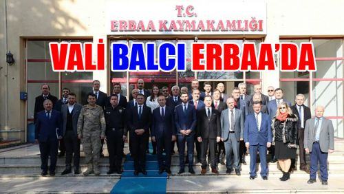 VALİ BALCI ERBAA'DA