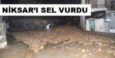 Yağış Niksar'da Etkili Oldu