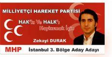 Zekayi Durak MHP'den A.Adaylığını Açıkladı